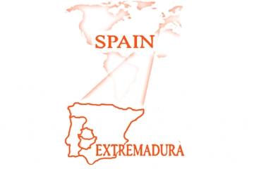 Mapa Extremadura en España