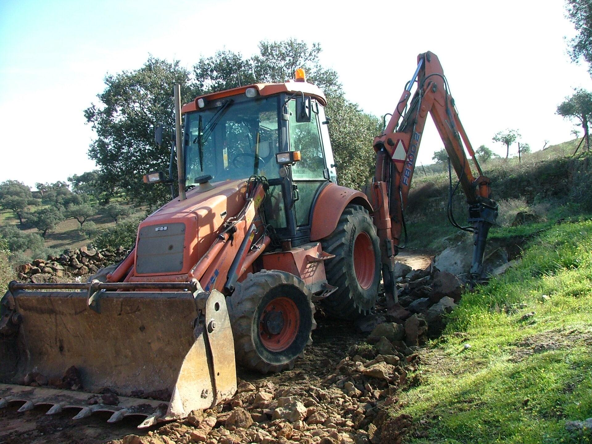Escavadora Parque de Maquinaria