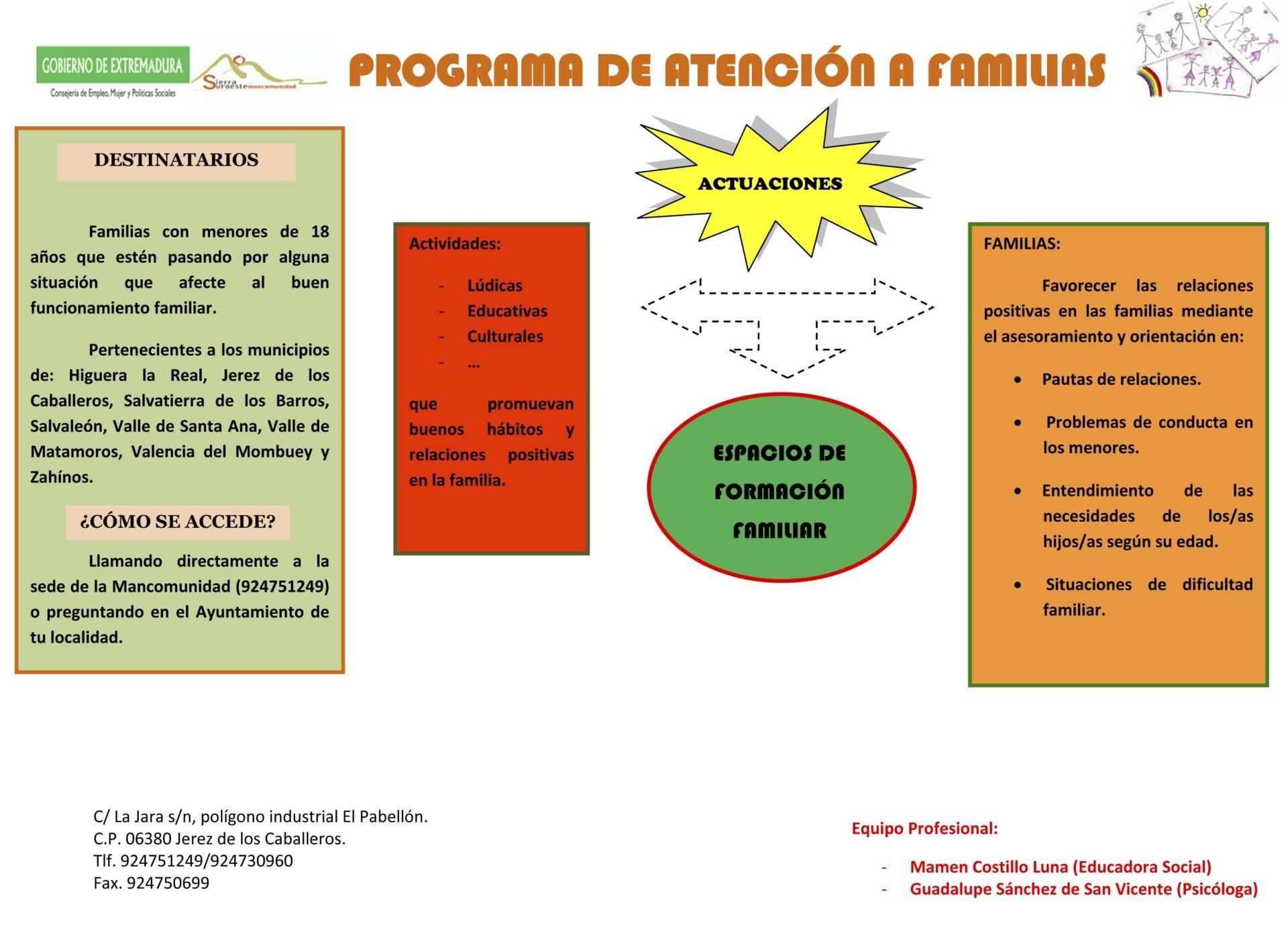 Programa Atención a Familias