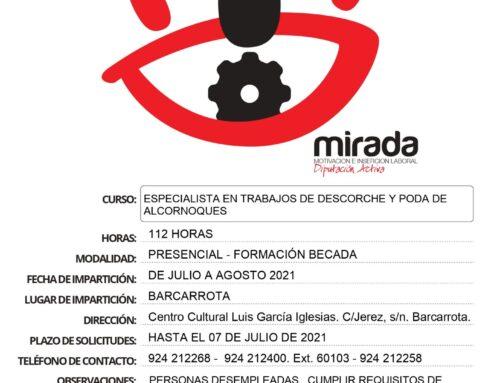 Información de la acción formativa 'Especialista en Trabajos de Descorche y Poda de Encinas y Alcornoques'