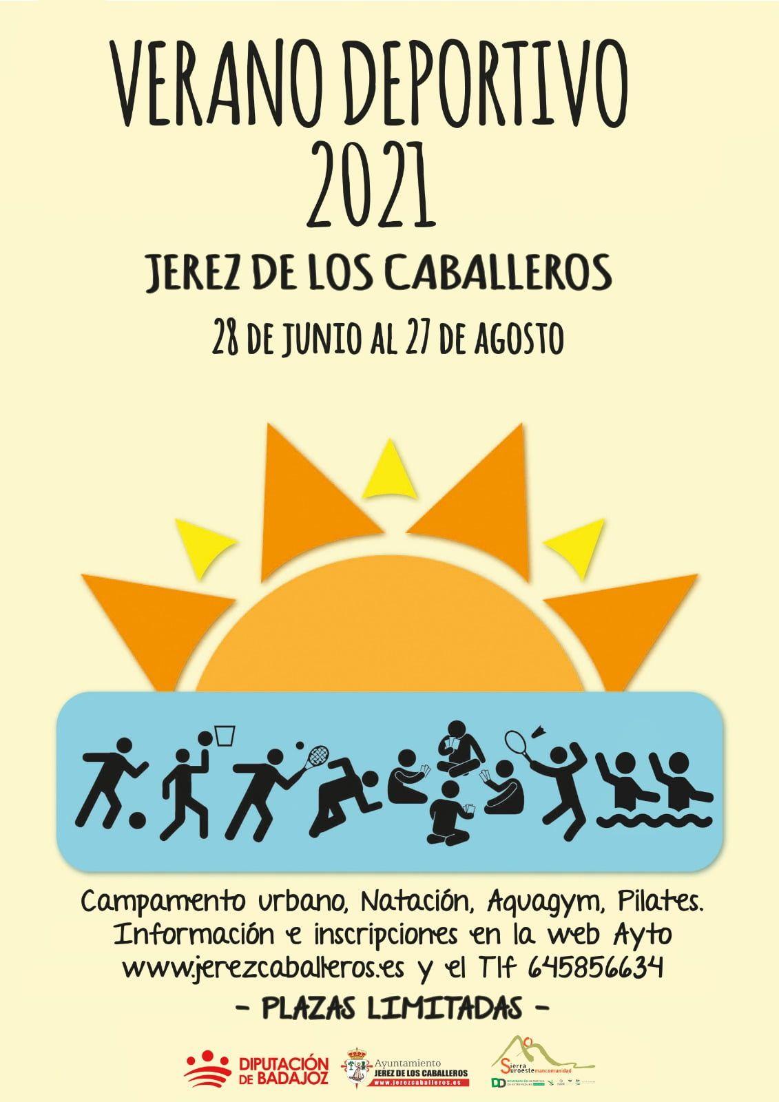 El Ayuntamiento de Jerez y el Programa de Dinamización Deportiva de la Mancomunidad presentan la oferta de actividades 'Verano Deportivo 2021'