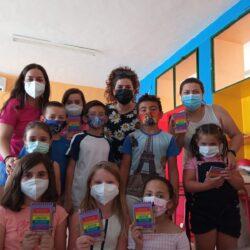 La Oficina de Igualdad realiza diferentes talleres en el Campamento de Verano de la Cruz Roja de Oliva de la Frontera