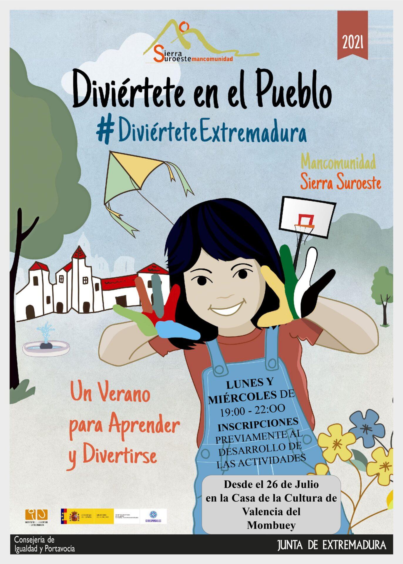 El 26 de julio arrancan las actividades del programa 'Diviértete Extremadura' en Valencia del Mombuey