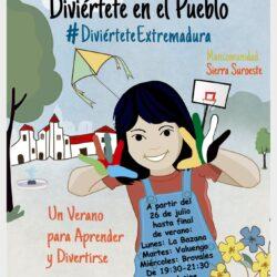 El 26 de julio arrancan las actividades del programa 'Diviértete Extremadura' en las pedanías de Jerez