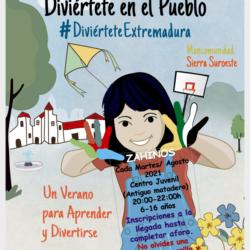 Los martes de agosto actividades con 'Diviértete Extremadura' en el Centro Juvenil de Zahínos