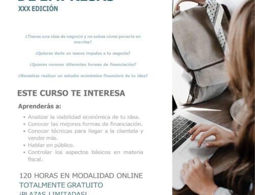 Información de la XXX Edición del curso de Creación y Consolidación de Empresas de la Fundación Mujeres