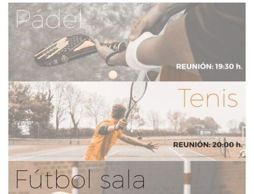 Apertura de inscripciones para las ligas municipales de pádel, tenis y fútbol-sala en Jerez de los Caballeros para la temporada 2021/22